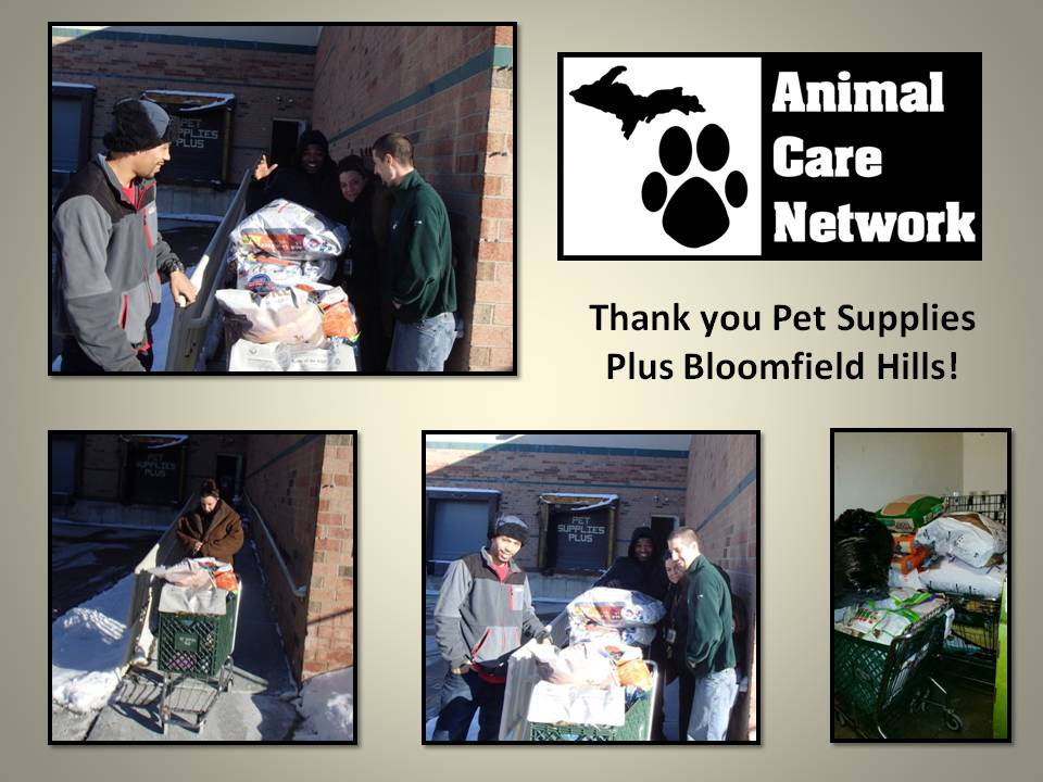 thank you to pet supplies plus bloomfield hills