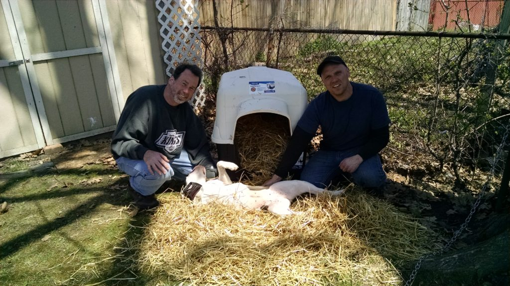 John and Keith with spayed pit